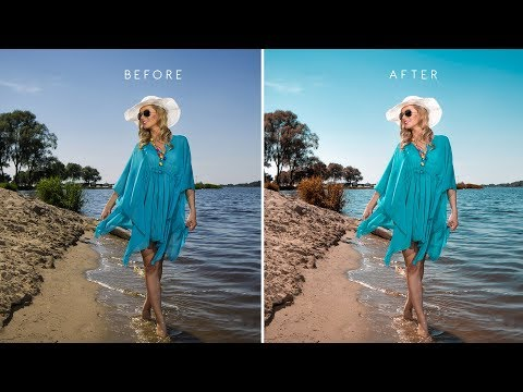 Apply Aqua Brown Color Scheme to Photos in Photoshop - Edit Summer Beach Photography w/ Free Preset