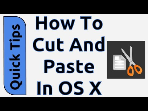 How To Cut and Paste in OS X