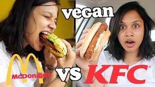 Download VEGAN MEAT BURGER TASTE TEST - MCDONALDS VS KFC   clickfortaz Video