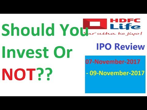 HDFC Life IPO Review || HDFC Standard Life Insurance IPO Detail