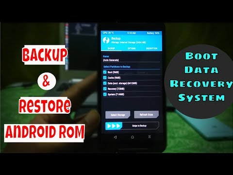 Backup and Restore ROM using TWRP Recovery [Any Android Phone/Tablet ]