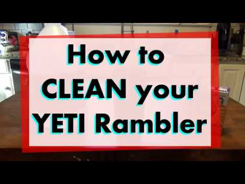 How to Clean a YETI RAMBLER with Stains in 5 EASY STEPS [HD]