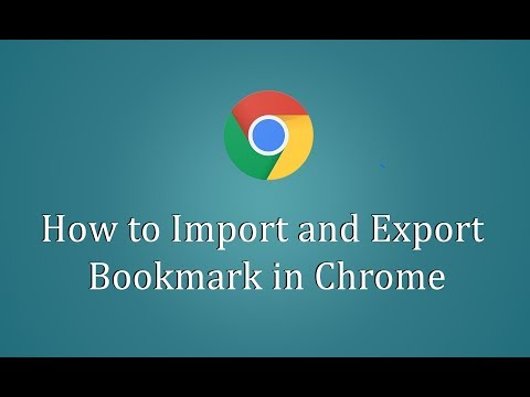 How to Import and Export Bookmark in Chrome - Hindi