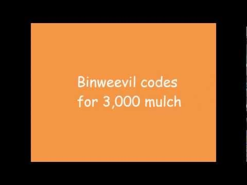Binweevil codes for 3,000 mulch-Guaranteed to work  *1080p*