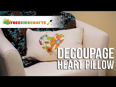 Decoupage Heart Pillow
