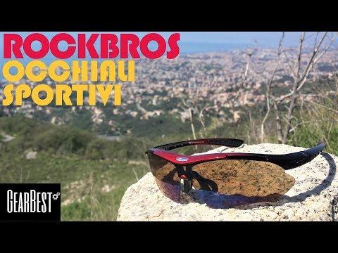 👉[Gearbest] RECENSIONE: 🕶️ Rockbros occhiali sportivi polarizzati con protezione UV400