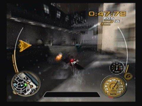 Midnight Club 3 - Train Jump Race in snow w/Ghost Rider