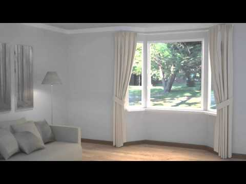 How to Dress Windows | Bay Windows with Curtains & Blinds