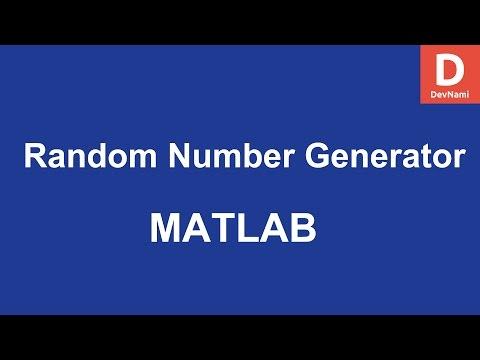 Matlab Random Number Generator