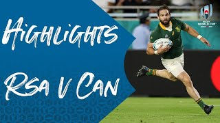 Highlights: South Africa v Canada - Rugby World Cup 2019