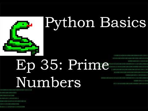 Python Basics Prime Numbers