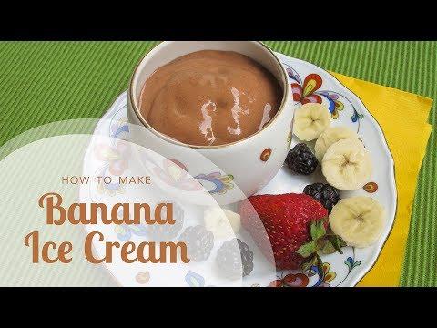 How to Make Banana Ice Cream: Three-Ingredient Chocolate Banana Ice Cream with No Added Sugar!