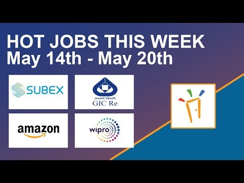 Freshersworld Hot Jobs Of The Week-(May 14th  – May 20th) – Subex, Amazon, Wipro, Walk-in Info