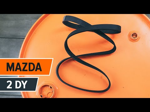 How to replace Alternator belt on MAZDA 2 DY TUTORIAL | AUTODOC