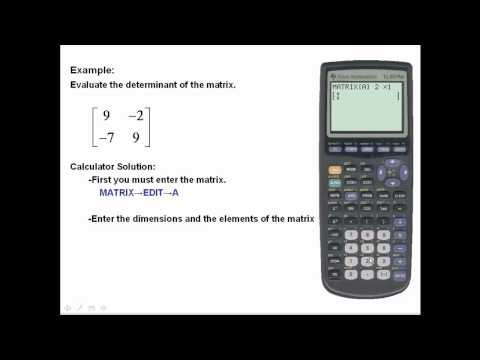 Find determinants using the TI-83/84