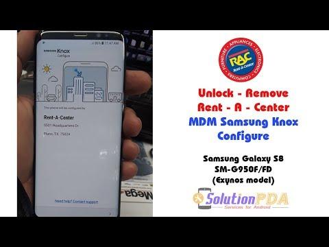Remove Unlock MDM Rent A Center Samsung Galaxy S8 G950F/FD Success