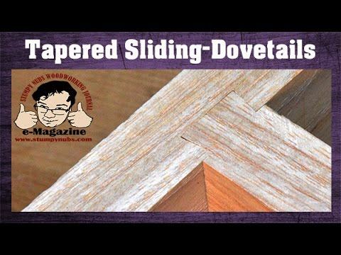 ROUTER SKILL- Make a tapered-sliding-dovetail THE EASY WAY!