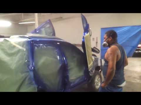 Putting On That REAL Candy Cobalt Blue Paint Door
