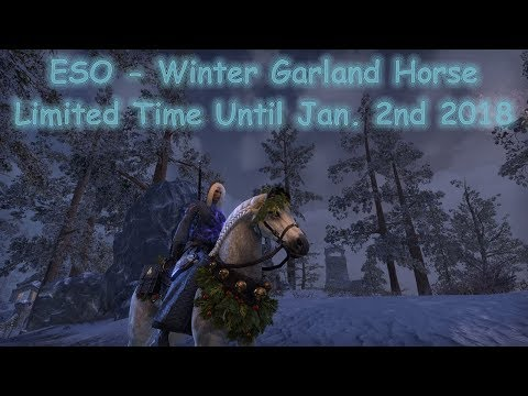 ESO Winter Garland Horse Preview