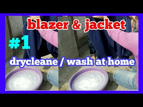 How to coat &  jacket  drycleane wash at   home .(HINDI )training #1