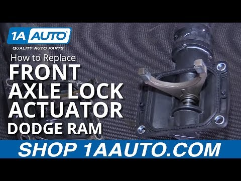 How to Install Replace Front Axle Locker Actuator 2006-10 Dodge Ram 1500 BUY PARTS AT 1AAUTO.COM