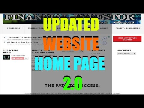 Financial Investor New Website Home Page!