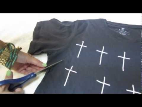 Turn your t-shirt into a tank top! (Easy DIY)