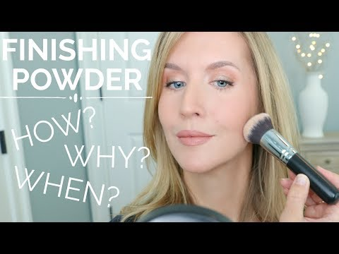 How to use Finishing Powder for an Airbrushed Makeup Look | The BEST Finishing Powders