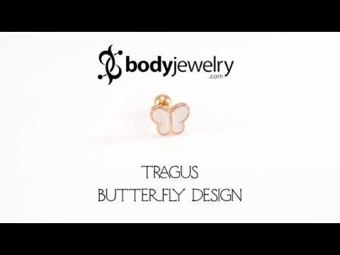 Tragus Jewelry Butterfly Design