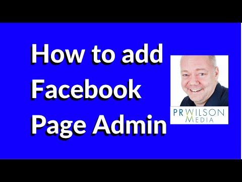 How to add Facebook Page administrators 2015