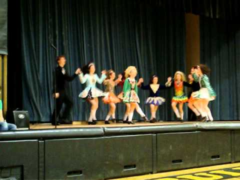 Irish Dancers from Rince Na Tirarna Dancing at Blessed Sacrament School(: