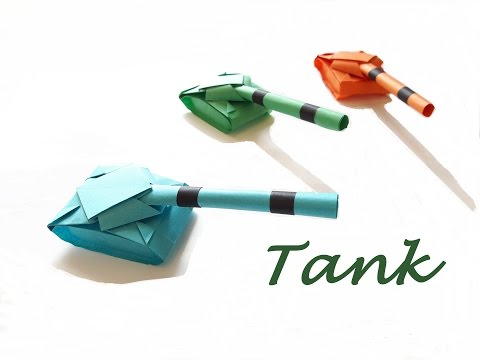 How to make a Paper tank?
