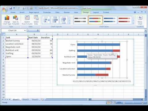 Excel 2007 Tutorial 16: Gantt Charts