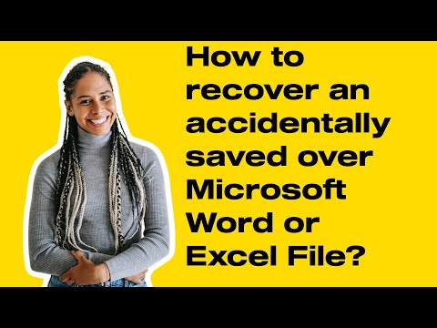 How to recover an accidentally saved over Microsoft Word or  Excel File?