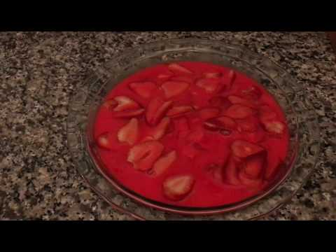 Zero point crustless strawberry pie