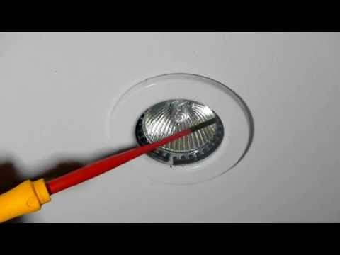 How to change a 12v halogen downlight bulb in a metal ring style - Emergency Electrician 24Hr