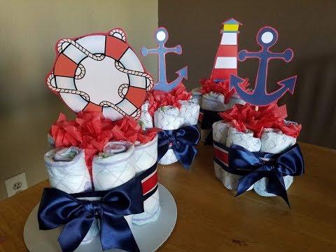 Diaper Centerpieces (nautical theme)