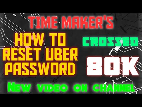 How to reset UBER password