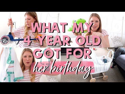 WHAT MY FOUR YEAR OLD GOT FOR HER BIRTHDAY | 4TH BIRTHDAY GIFT IDEAS