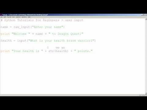 Python Tutorials for Beginners - Getting User Input