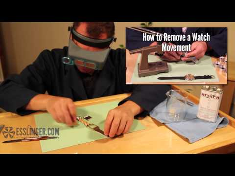 How to Remove a Glued Watch Crystal with Chemicals