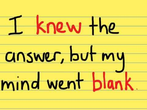 My mind went blank in the exam - How to overcome this