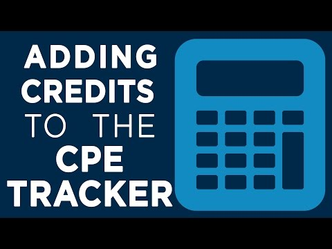 Adding Credits to the CPE Tracker