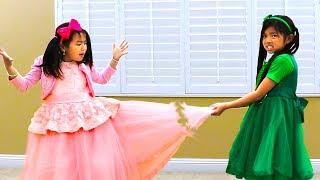 Download Jannie & Emma Pretend Play Fixing Beautiful Dress Video