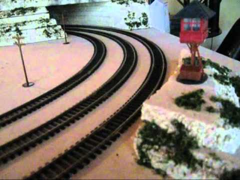 4x8 ho Train 3 track Layout