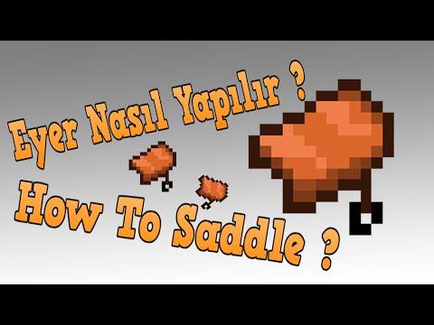 Minecraft Eyer Nasıl Yapılır - How To Make Saddle