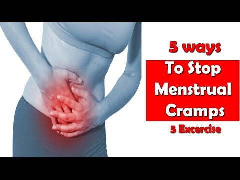 how to stop cramps on your period fast 5 exercises  Hindi