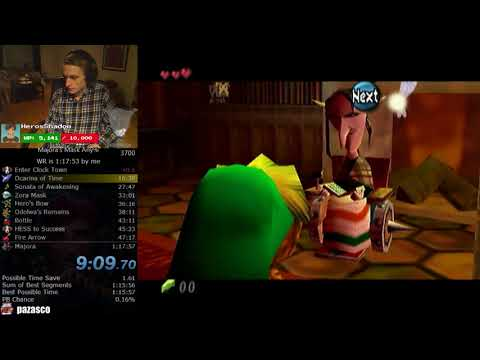 The Legend of Zelda: Majora's Mask Any% Speedrun (1:17:28)