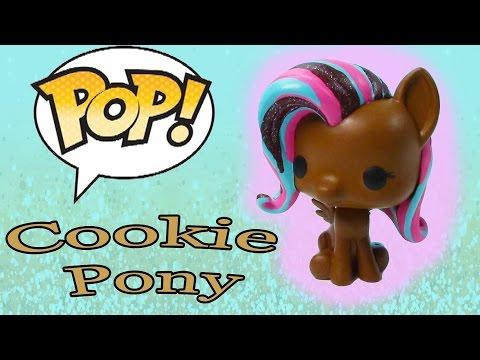 DIY Custom POP Vinyl My Little Pony MLP Fluttershy Painted Chocolate Cookie Glitter Toy Cookieswirlc