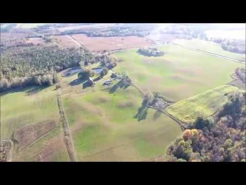 80 acre homestead farm Wisconsin Ariel DJI Phantom 4 drone trail camera bear deer buck Turkey